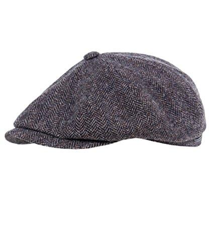 stetson-mens-hatteras-woolrich-cap-60-cm-dark-brown