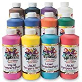Color Splash S&S Worldwide Tempera liquida 16 once. Assortimento - Confezione da 12
