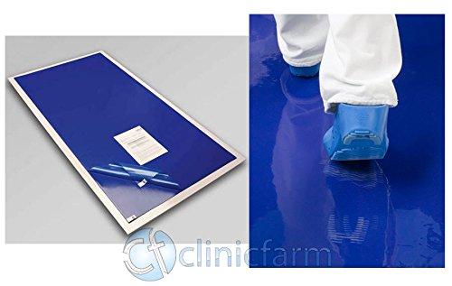 TAPPETO DECONTAMINANTE con 30 FOGLI adesivi BATTERICIDA tappetino 45 cm x 115 cm