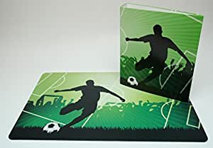 Sous-main 40 x 60 cm-football/football avec son classeur dIN a4