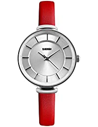 Naivo Women's Quartz Stainless Steel and Leather Color:Red (Model: WATCH-1134)