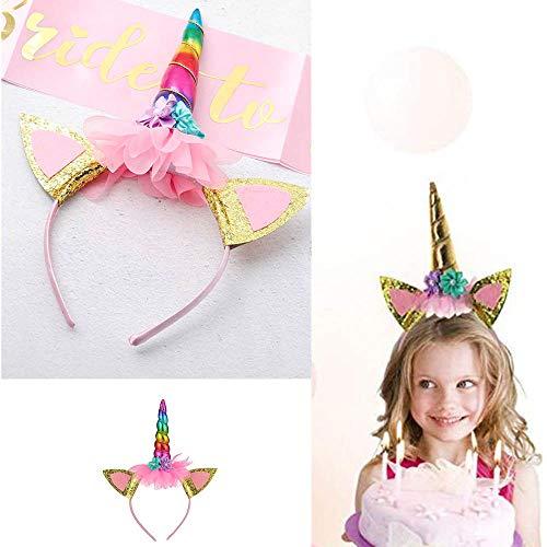 Simply Unicorn Stirnband für Erwachsene, Weihnachten, Einhorn, Einhorn, Haarband, Mädchen, Party, Cosplay, Kostüm, Party