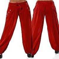 FORH Damen Super weiches Harem Yoga Pilates Hosen Frauen Solide Niedrige Taille Boho Yoga Hosen Baggy Wide Leg Lässige Aladin Pants Hippie Hose Haremshose