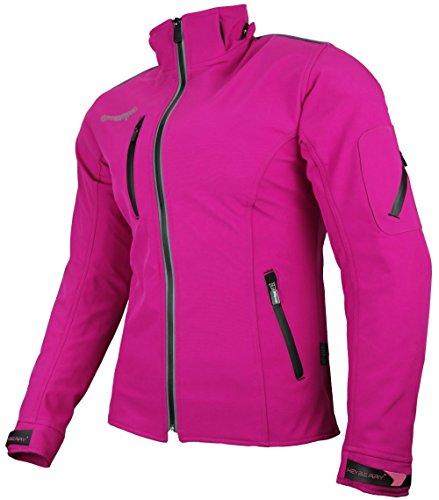 Heyberry Damen Soft Shell Jacke Motorradjacke Textil Pink Gr. M