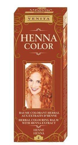 Henna Color 4 Henna Haarbalsam Haarfarbe Farbeffekt Naturhaarfärbemittel Henne Öko