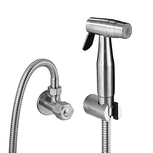 CIENCIA Bidet-Handbrause für Toilette Sprayer Premium Edelstahl Sprüher Shattaf Komplett Bidet Set für WC(WS024AF6)