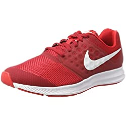 Nike Downshifter 7 Gs, Zapatillas de Running para Niñas, Rojo (Univ Red/White/Tough Red/Black), 38.5 EU