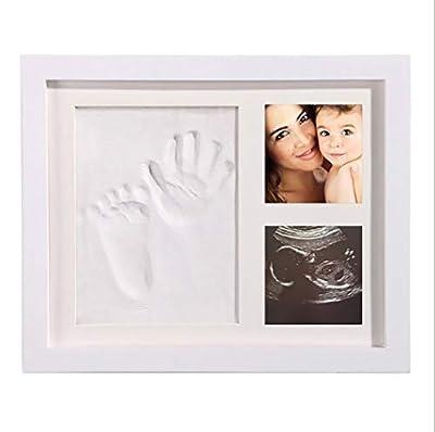 TYUE Bebé Huella y Handprint Kit, Regalos de bebé Ducha para el Registro de Bautizo, Kit de impresión de Mano de bebé Recuerdo Memorable para la Pared de la habitación o decoración de la Mesa