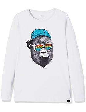 Quiksilver LS ClassicYouth Kong Business - Camiseta de Manga Larga para niño, Color Blanco, Talla XL