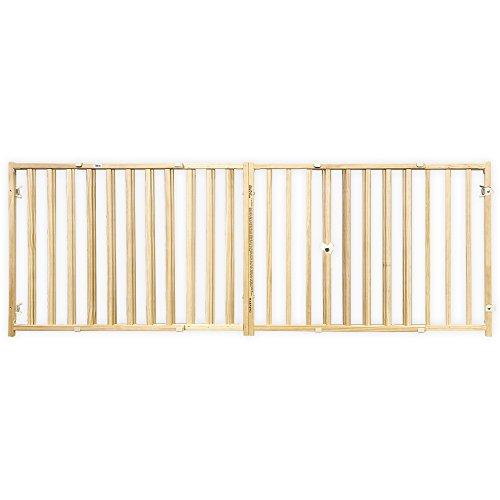 Four Paws Hundegitter, Holz, extra breit, ausziehbar, 93 x 61 cm hoch