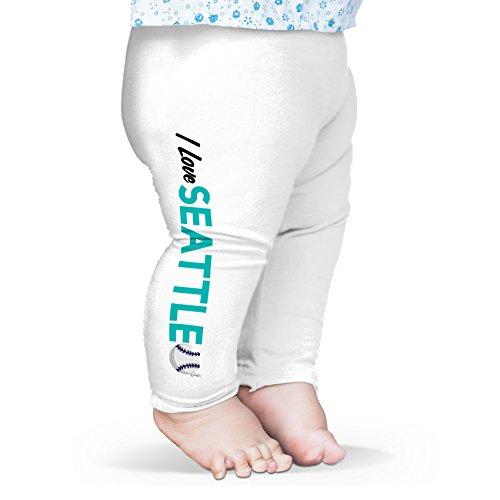 TWISTED ENVY Baby Mädchen (0-24 Monate) Leggings Gr. L, weiß Seattle Mariners Team-design