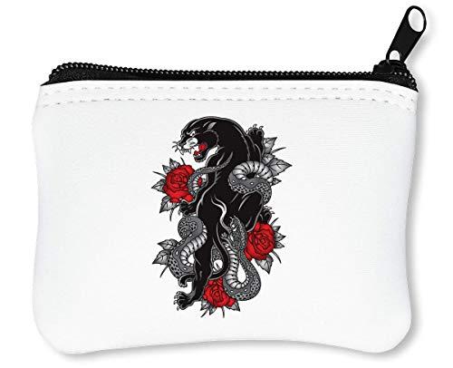 ght | Animal Series | Tattoo | Angry | Battle | Simple Reißverschluss-Geldbörse Brieftasche Geldbörse ()