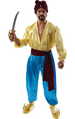 Adult mens sinbad pirate aladdin ali baba fancy dress costume pantomime outfit standard