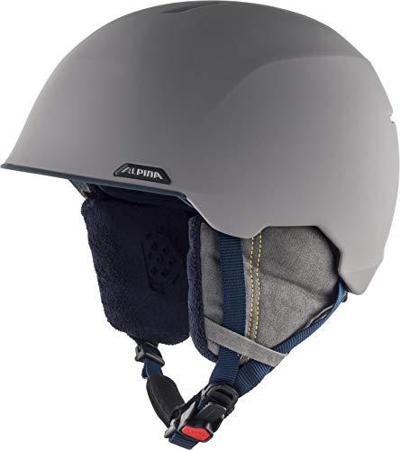 Alpina Unisex-Erwachsene ALBONA Ski-und Snowboardhelm, Grey-Curry matt, 53-57 cm