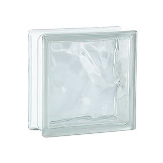 6 piezas BM bloques de vidrio nube SUPER white 19x19x8 cm