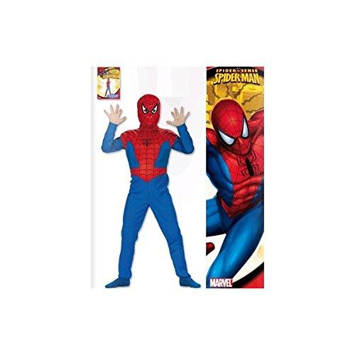 Imagen de disfraz de spider man con percha talla 1  de 3 a 5 años  josman 83584