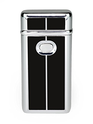 eFuego Elektronisches Sturmfestes Plasma Lichtbogen Feuerzeug mit USB Ladekabel für Zigaretten Kerzen und mehr -