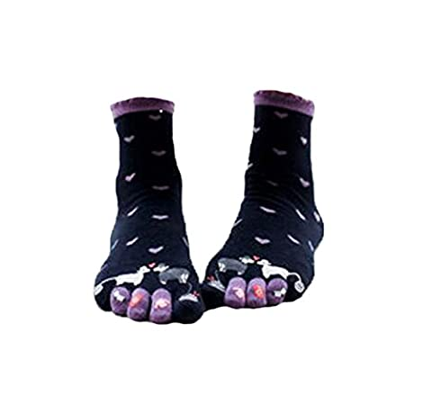 Soft Cotton Socks Sheep Jolie Tube Noir Toe