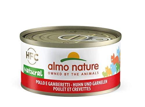 Almo Nature HFC Natural Katzenfutter - Huhn und Garnelen 24x70 g
