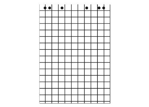 Landre 100050592 Flip-Chart-Blöcke, Vollformat 68 x 99 cm, 20 Blatt, 80 g/qm, 5 Stück -