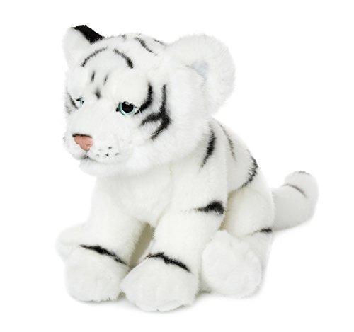 WWF Plüsch Kollektion WWF00796 - Plüschfigur weißer Tiger 23 cm, Plüschtiere (Stofftier Tiger Weißer)