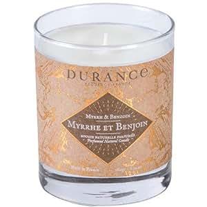 DURANCE Bougie Parfumée Naturelle Myrrhe et Benjoin