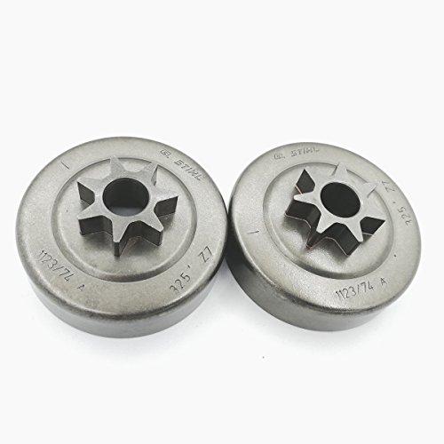 2pièces tronçonneuse 7t tambour d'embrayage Pignon kit pour Stihl MS170MS180MS210MS230MS250017018021023025tronçonneuse