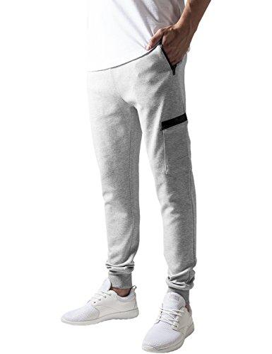 Urban Classics Athletic Interlock Sweatpants, Pantalon Homme Gris - Grau (Grey 111)