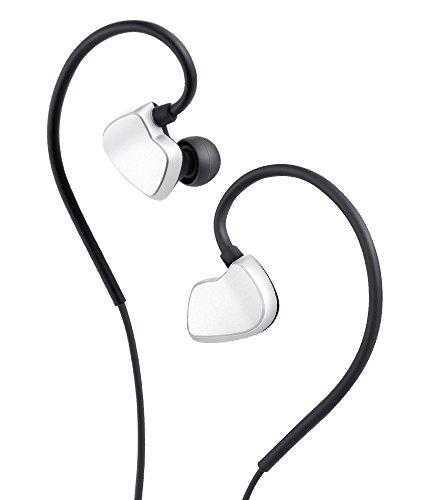 AudioMX In-Ear Kopfhörer Stereo Kopfhörer mit Mikrofon, Geeignet für Verschiedene Geräte, Silber