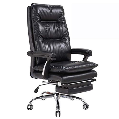 Chaise de Bureau/Chaise Boss/Chaise d'ordinateur, mécanisme d'inclinaison d'utilisation, Repose-Pieds Pliant, Design épaississant Confortable, réglage de la Hauteur de 10 cm, Rotation de 360 °