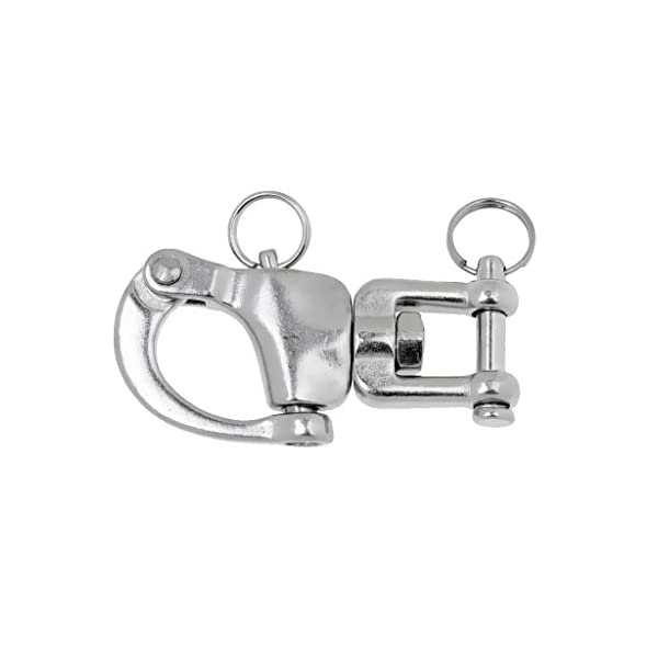 MonkeyJack High Strength Snap Swivel Jaw Shackle Buckle Quick Release Bail Rigging Hardware Marine Boat/Sailing/Yacht…