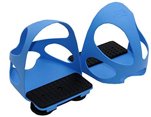 Compositi Steigbügeleinlage mit Durchrutschschutz 1 Paar = 2 Stück | Durchrutschschutz Steigbügel für Kinder hellblau Sicherheitssteigbügeleinlage mit Kappe