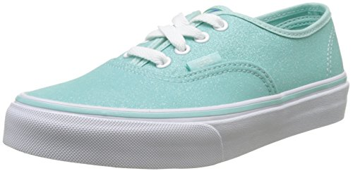 Vans Authentic Glitter (Vans Mädchen UY Authentic Sneakers, Blau (Glitter and Iridescent Blue/True White), 34.5 EU)