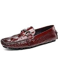 RSHENG Zapatos de guisantes de verano para hombre Zapatos únicos de moda Zapatos casuales Textura de