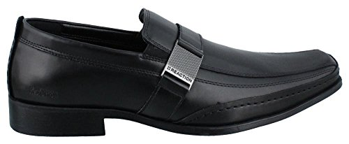 Kenneth Cole Reaction Money Down Eckig Kunstleder Slipper Black