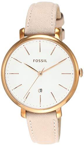Fossil Jacqueline Damen-Armbanduhr 36mm Armband Kalbsleder Beige Quarz ES4369