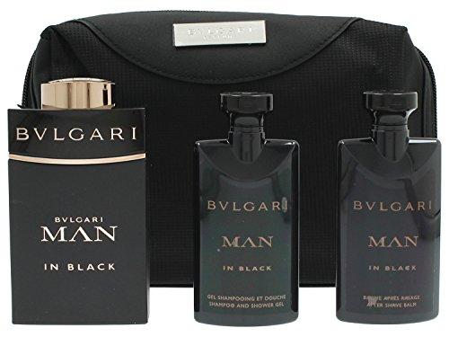 Bvlgari Bvlgari man in black geschenkset für ihn edp spray 100ml aftershave balm 75ml duschgel 75ml tasche