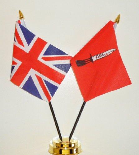 Die Spielfiguren, Infanterie und Vereinigtes Königreich Freundschaft Tabelle Flag Display 25 cm (25.40 cm)