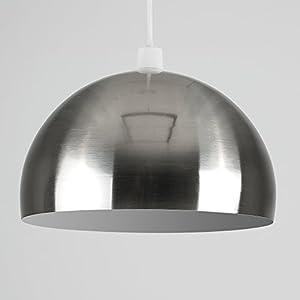 Modern Metal Retro Arco Dome Pendant Ceiling Light Shade from MiniSun