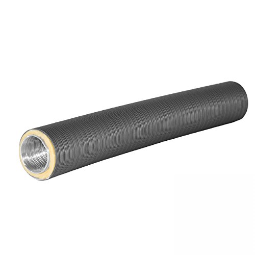 Subtiel 4325-TFX Therm Flex Aluflexrohr isoliert grau Ø 100 mm für Außenluft-Anschluss