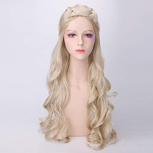 Long Light Blonde Curly Wavy Hair Prinzessin Allura Voltron Inspiriert Wig für Party Cosplay Anime Wigs Spiel der Throne Staffel 7