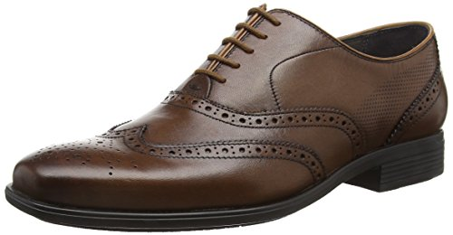 Hush Puppies Griffin Maddow, Brogues Homme Brown (Oxblood Leather)