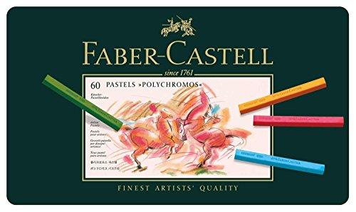 Preisvergleich Produktbild Faber-Castell 128560 Pastellkreide Polychromos Metalletui 60er