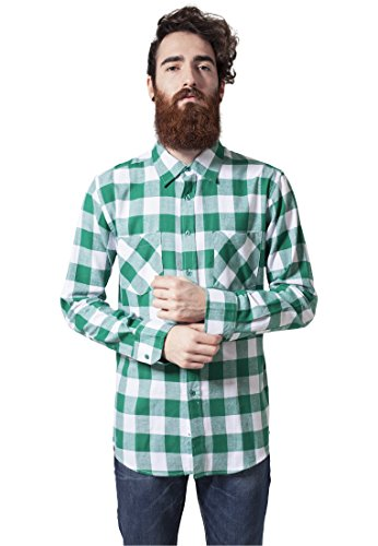 Checked Flanell Shirt wht/grn S - Checked Flanell Hose