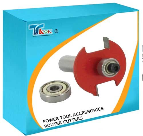 """TK9K® - Power Tool Accessories Router Cutters Biscuit Cutter No.10 & 20 1/2"""" Sharp TCT cutting edges. Interchangeable bearings convert from No.10 to No.20 biscuit."""
