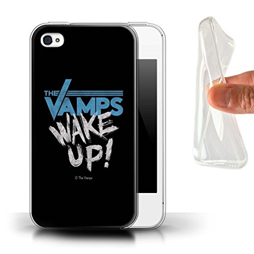 Officiel The Vamps Coque / Etui Gel TPU pour Apple iPhone 4/4S / Pack 6pcs Design / The Vamps Graffiti Logo Groupe Collection Réveillez-Vous!