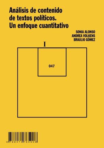 Portada del libro Análisis de contenido de textos políticos. Un enfoque cuantitativo (Cuadernos Metodológicos)