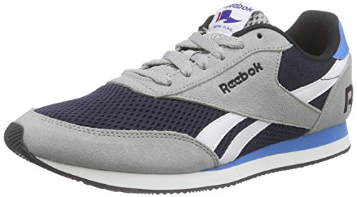 Reebok Royal Classic Jogger, Chaussures de Course Garçon Grau (Tin Grey/Coll Navy/White/Black/Eletric Blue)