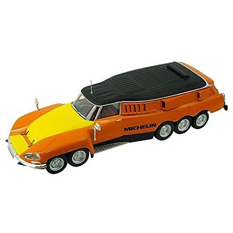 Voiture miniature Citroën DS Michelin Mille Pattes - 1972 (1:43) - orange / jaune / noir