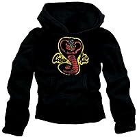 Cobra Kai -Felpa, motivo Karate Kid Cobra, colore nero, nero (nero), XL